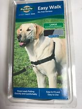 New listing PetSafe Easy Walk Harness Large Black Silver New 27-40 Inch Girth
