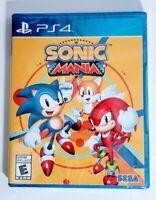 Sonic Mania PS4 Sony PlayStation 4 Video Game Sega 2017 Platformer New Sealed