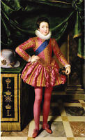 Oil painting Frans Pourbus the Younger - Young boy louis xiii as a child canvas