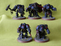 A16 WARHAMMER 40K SPACE MARINES ARMY - SPACE WOLVES TERMINATOR SQUAD