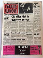 MUSIC & VIDEO  WEEK MAGAZINE   5  MAY 1984  CBS RIDES HIGH     LS