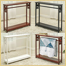 Deluxe Quilt Throw Blanket Towel Holder Storage Display Stand w/ Shelf ~ CHOICES