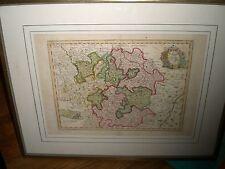 orig. kolor. Kupferstichkarte Lothringen Chez Crepy La Loraine von 1767 Selten