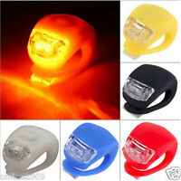 2PCS Silicone Bike Bicycle Cycling Head Front Rear Wheel LED Flash Light Lamp