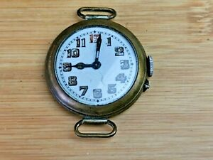Quality 1940s Mens Military Pinset Trench Watch, Working, Needs Repair
