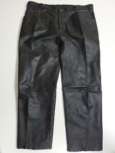 Herren Lederhose Jeans Nappa Gr.58 schwarz