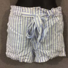 Witchery Paper Bag Shorts Girls 2-7 Size 14 Stripes White Blue