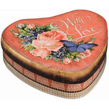 Heart Decorative Tins with Lid