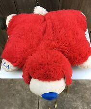 Authentic Limited Edition 2011 Pillow Pets Dog Plush Full Size Patriotic Red