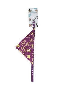 Dog Collar with Violet Bandana Small