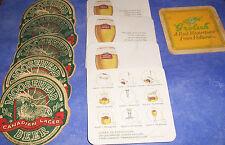 MOOSEHEAD LAGER, STELLA ARTOIS, GROLSCH LAGER Vintage Bar Beer Drink Coasters
