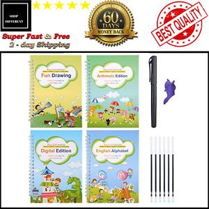 Sank Magic Practice Copybook Set Reusable English Calligraphy Book Preschoolers