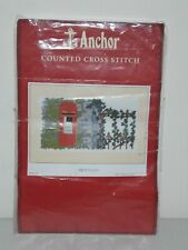 Anchor Counted Cross Stitch PARTLY STITCHED 'First Class' Traditional Postbox