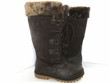 ABOUND WATERPROOF WOMEN'S FAUX FUR WINTER BOOTS BROWN SIZE 7