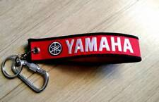 YAMAHA Red Keychain Embroidered Fabric Strap Keyring Tag Bike New Free Shipping