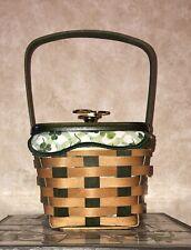 Longaberger 2009 Lucky Wish Basket with Shamrock Liner, Plastic Protector & Lid