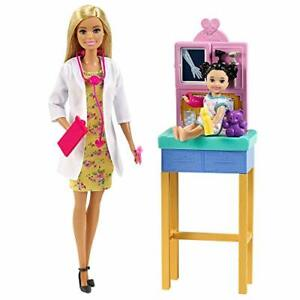 "Barbie Pediatrician Playset Blonde 12"" Doll Exam Table X-Ray Patient Nov.21,20"