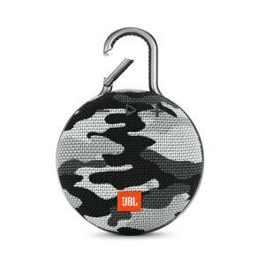 JBL Clip 3 Arctic Camouflage Portable Bluetooth Waterproof IPX7 Speaker - New