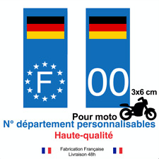 Autocollant plaque immatriculation moto drapeau pologne