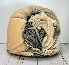 "Pug Dog Pillow Doorstop - ""Pebbles the Pug"" by Fiddlers Elbow Made in the USA"