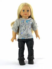 """Horse Best Friends Pant Set Fits 18"""" American Girl Doll Clothes"""
