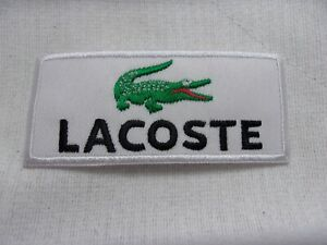 LACOSTE  NEW EMBROIDERED  IRON ON  PATCHES DIFFERENT STYLES