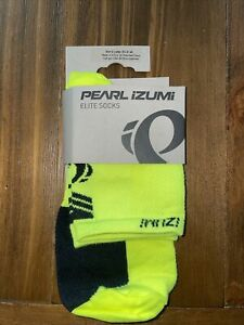 Pearl Izumi mens large socks NWT Elite Screaming Yellow