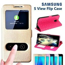 NEW Official S View Leather Magnetic Window Book Case Cover for Samsung Galaxy