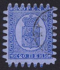 Finland 1866 20p Pale Blue/Blue Roulette Light cds