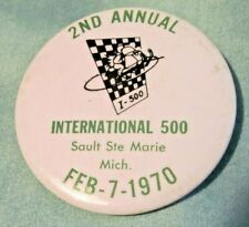 1970 I-500 Snowmobile Race Entry Pin
