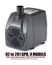 PonicsPumps Submersible Pump with for Hydroponics, Aquaponics, Fountains, Pon...