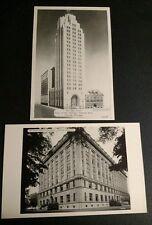 Vintage LANSING MI Postcard LOT State Office Building Photo OLDS TOWER Bank GOOD