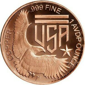 1oz .999 copper round - 1804 Bust Dollar -Copper Round