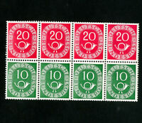 Germany Stamps # 675a VF Partial booklet (missing 2)