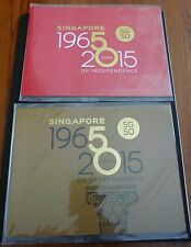 Singapore 2015 SG50 50 yrs of Independence Stamps Folder Set of 2 MNH