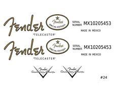 Fender Telecaster Guitar Decal logo #24