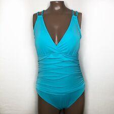 Sz: 6 La Blanca Island Goddess Ruched Triangle Cup Dual Adj Strap Swimsuit