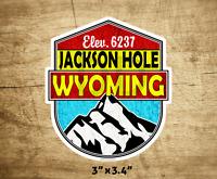"Skiing Jackson Hole Wyoming Decal Sticker  3"" x 3.4"" Ski"
