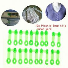 10Pcs Plastic Snap Clip Punch Card For Brother SReed Knitting Machine Tool CG