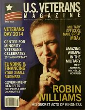 U.S. Veterans Magazine Robin Williams Veterans Day 2014 Fall 2014 FREE SHIPPING