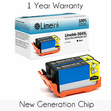 2Pk 564XL Black Ink Cartridge For HP Photosmart 5514 5515 5510 5520 6520 Printer