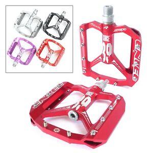 "Flat Platform MTB Pedals Mountain Bike AM XC Enduro Lightweight CNC Alloy 9/16"""