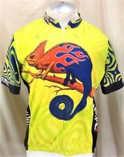 "Primal Wear Cycles ""Chameleon"" (XL) 3/4 Graphic Psychedelic Cycling Jersey Green"