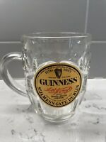Vintage Guinness St James Gate Dublin 16 Oz Dimpled Glass Glass Beer Mug