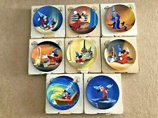 Set of 8 Knowles Disney Fantasia Collector Plates Mickey Mouse w/ Boxes & Certs
