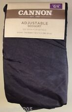 Cannon Solid Adjustable Bedskirt Bed Skirt Queen/King - Navy