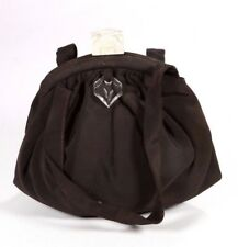 Vintage Circa 1940 Black & Lucite Evening Cocktail Party Bag