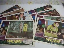 Macabre  Rare  lobby card set 1958