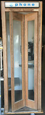"""VINTAGE WOODEN WOOD TELEPHONE PHONE BOOTH W/ Dial Telephone 1950s 1960s PB721"""""""