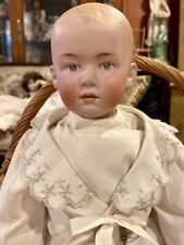 "Antique 18"" German Bisque Gebruder Heubach Pouty 7903 Doll w/Jointed Body"